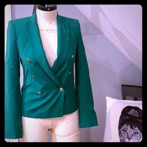 Zara green blazer Xs